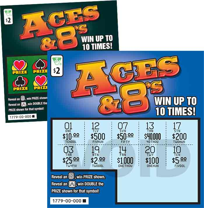 Aces And 8's Scratcher   Virginia Lottery